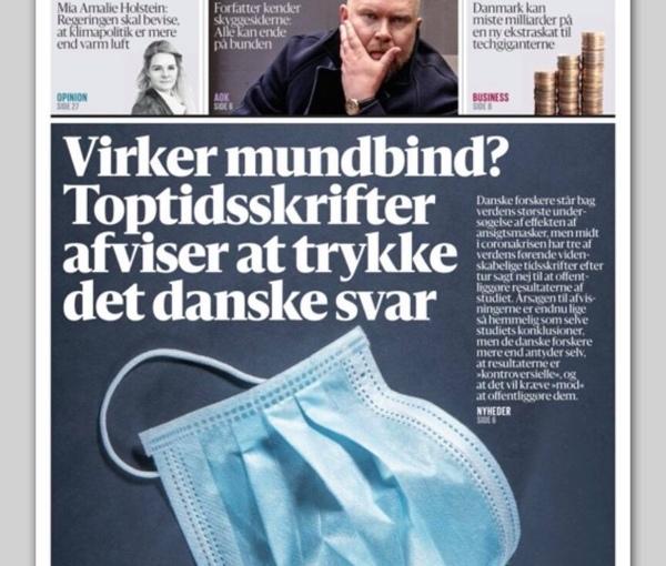 Soll Dänische Studie über Wirksamkeit von Masken unterdrücktwerden?